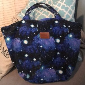 PINK space dyed tote  20x 14  canvas